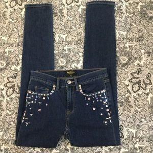 Juicy Couture black label rhinestone jeans sz 24